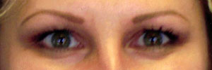 After permanent eyebrows
